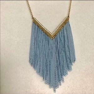 Jewelry - 🎀Vintage powder blue on gold tone chain up to 23